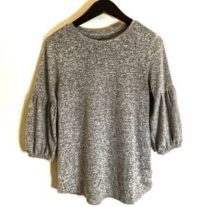 Gap Gray Sweater Shirt Puffy Sleeves